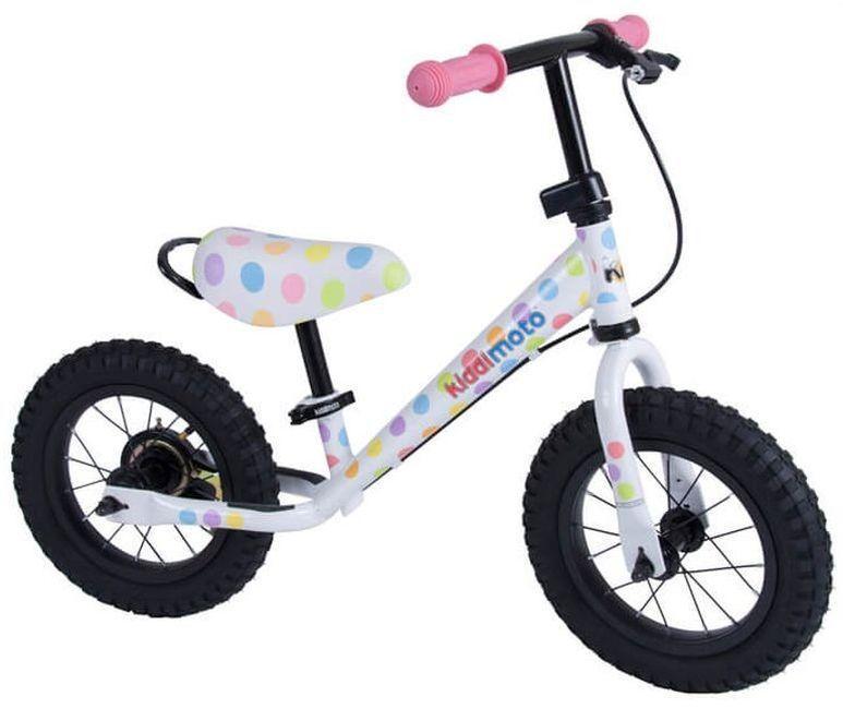 Bicikl bez pedala KIDDIMOTO Super Junior, pastel dotty
