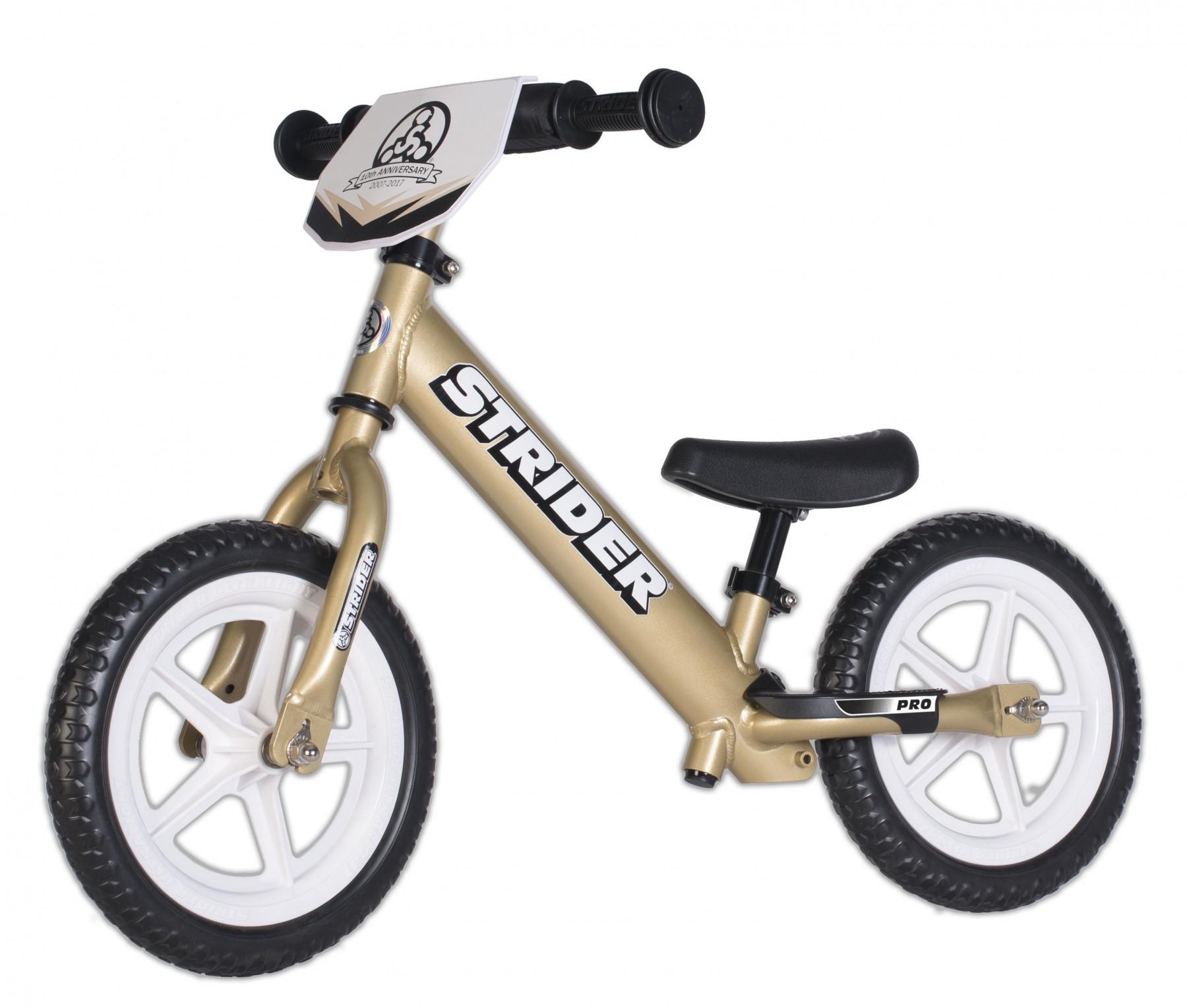Bicikl bez pedala STRIDER PRO, zlatni
