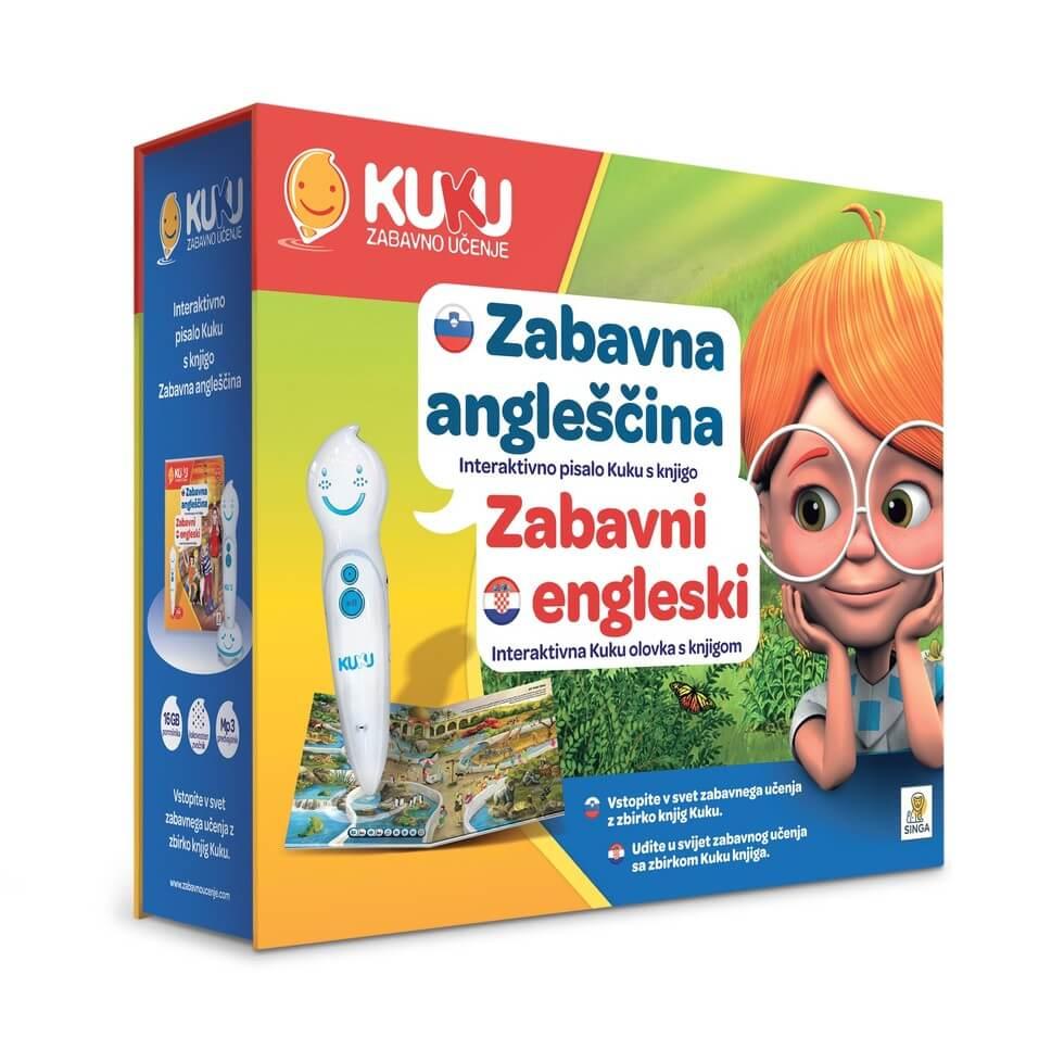 Interaktivna olovka KUKU s knjigom – ZABAVNI ENGLESKI