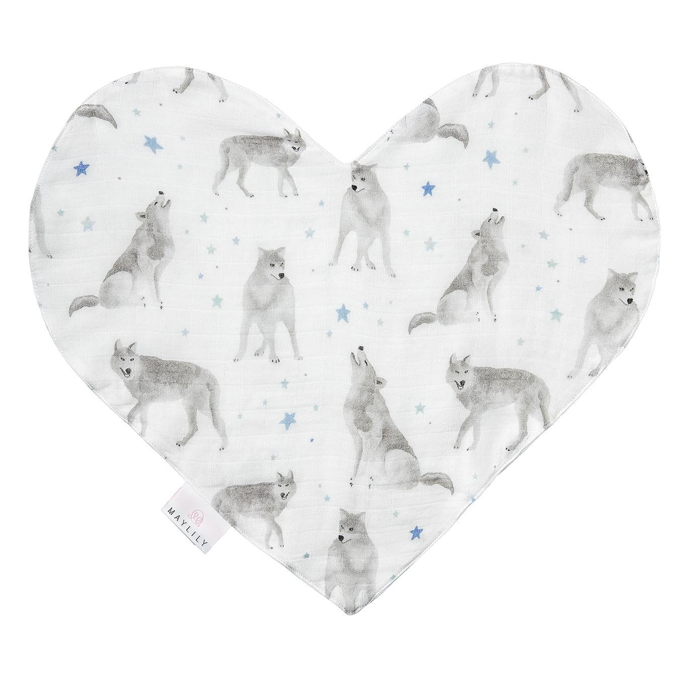 Muslin srce MAYLILY, star wolves