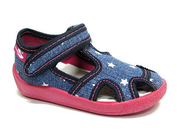 Dječje Papuče REN, jeans zvezde 21