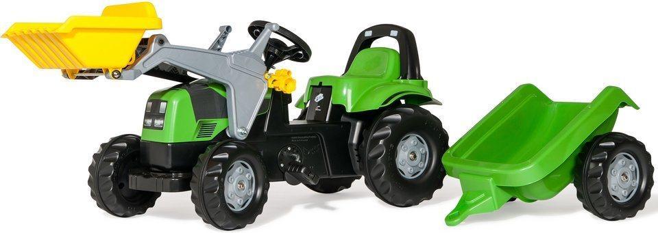 Rolly Toys traktor na pedale Deutz-Fahr + utovarivač + prikolica