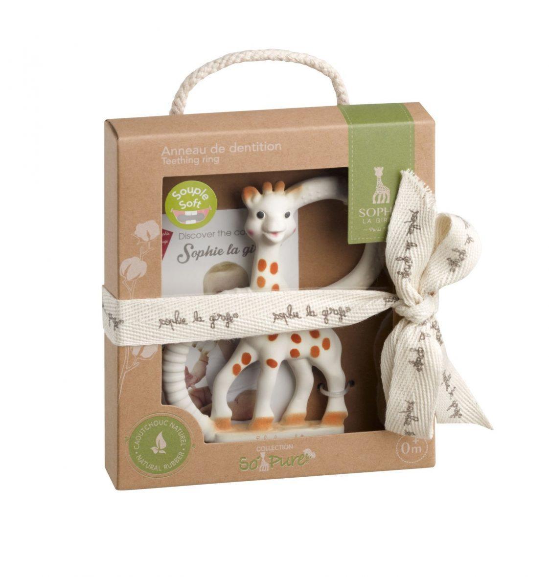 -Obroček za grizenje žirafa SOPHIE, Vulli